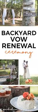 Celebrating 10 Years Our Backyard Vow Renewal