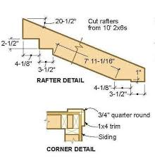 8x12 lean to shed plans 03 rafter details proyectos sergio