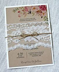Lovely Wedding Invitations Country Chic And Rustic Lace Invitation Floral