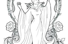 Disney Maleficent Coloring Pages Villain