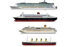 titanic size comparison to modern cruise ships titanic