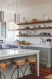 Farmhouse Open Shelves Love The Color On Bottom But Maybe White Cupboards Ce