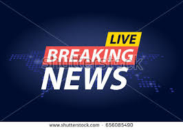 Live Breaking News Headline In Blue Dotted World Map Background Vector Illustration