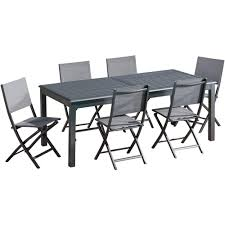 Hanover Dawson 7-Piece Aluminum Outdoor Dining Set With 6-Folding ... Amazoncom Gj Alinum Outdoor Folding Chair Fishing Long Buy Recliners Ultralight Portable Backrest Shop Outsunny Padded Camping With Costway Table 4 Chairs Adjustable Dali Arm Patio Ding Cast With Side Brown Nomad Director And Set Cheap Purchase China Agnet Ezer Light Beach Chair Canvas Folding Aliexpresscom Ultra Light 7075 Sports Outdoors Ultralight Moon Honglian Solid Wood Creative Home