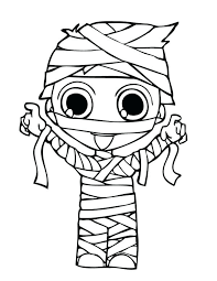 Full Image For Halloween Costume Coloring Pages Pictures Mummy