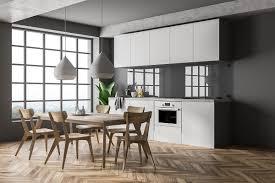 wandgestaltung küche 22 ideen für tapete mit wandfarbe