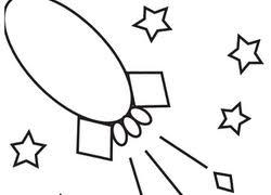 Preschool Math Worksheet Color By Shape Rocket In Space