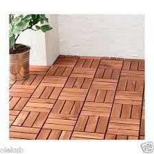 IKEA Runnen Floor Decking Outdoor Brown Stained 9 Sq Feet 90234226