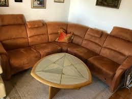 polster eck sofa sitzgarnitur rost braun sehr gut