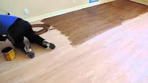 Knee Pads For Hardwood Floor Installers by How To Stain Hardwood Floors By Hand Youtube