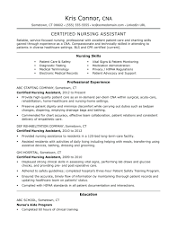Cna Resume Objective Example Skills Examples Statement