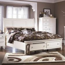 ashley furniture prentice sleigh storage bedroom set in white