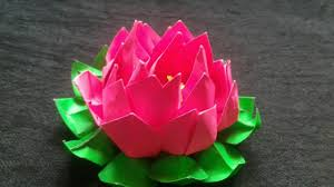 WATCH Complete Step By Tutorial And Enjoy Making This Easy Paper Craftsgo Ahead Make Yourself A Beautiful Origami Lotus For Your Home Decorations