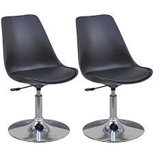 vidaxl 2x küchenstuhl drehbar höhenverstellbar esszimmerstuhl kunstlederstuhl