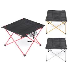 Outdoor Lightweight Aluminum Folding Table Portable Camping Flexible Desk