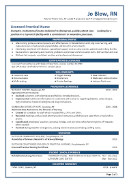 Resume For Lpn Nurse