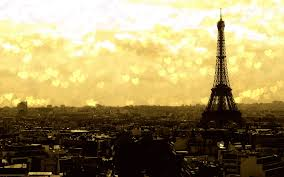 Sunset At The Eiffel Tower Wallpaper
