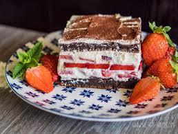 protein tiramisu mit erdbeeren