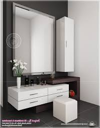 makeup table with lights and mirror gray stained wooden vanity