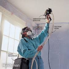 Best Airless Paint Sprayer For Ceilings by How To Paint Popcorn Ceilings Family Handyman