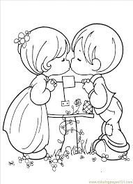 Coloring Pages Precious Moments 1 4 Cartoons