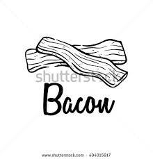Drawn bacon black and white 5