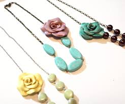 How To Make A Vintage Inspired Clay Rose Necklace