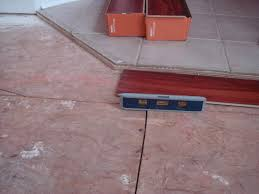 leveling tile floor for laminate