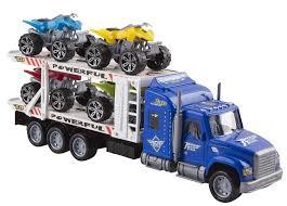 100 Atv Truck Toy Transporter Trailer 145 Childrens Friction Big Rig All