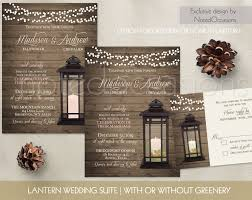 Uncategorized Lantern Wedding Invitations Set Rustic Country