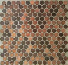 12x12 Ceiling Tiles Walmart by Amazon Com Copper Zinc Penny Round Coin Tile Sheets For Floor Or