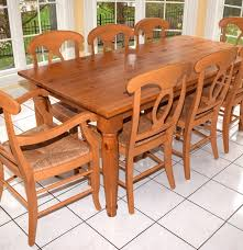 Pottery Barn Pine Farm Table And Eight Chairs : EBTH Best Pottery Barn Wooden Kitchen Table Aaron Wood Seat Chair Vintage Ding Room Design With Extending Igfusaorg Chairs Interior How To Select Chair For Bad Backs Bazar De Coco Classic Rectangular Traditional Large Benchwright Round Glass Set2 Inch Fniture And Metal Bar Stools