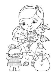 Doc McStuffins Like To Help In Coloring Page