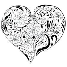 Flowers Hearts Coloring Pages Heart Made Of