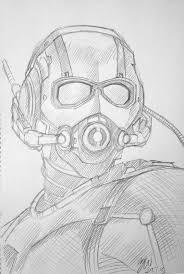 Antman Sketch By Lazytigerart