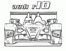 Audi R10 Race Car Coloring Pages