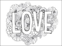 Valentines Day Adult Coloring Page Love Blooms