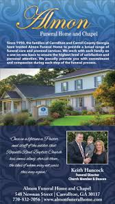 Christians In Business Almon Funeral Home Details