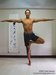 Sensational Yoga Poses Model Neil Keleher Balancing On One Leg In Tree Pose With