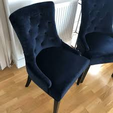 Suede Button-back Dining Chairs - Navy Blue   RRP £698   In London   Gumtree Fairy Contemporary Fabric Ding Chairs Set Of 2 Navy Blue Shelby Chair In Channel Tufted Velvet By Meridian Fniture Hanover Mcer 5piece Patio With 4 Cushioned And A 40inch Square Table Mercdn5pcsqnvy Colston Silver Leaf Including Brookville Harley Traditional Microfiber Details About Bates New Opal Room Gold William