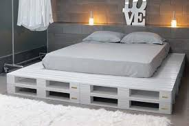How To Make A Platform Bed Frame From Pallets by Diy Chic White Platform Pallet Bed 99 Pallets