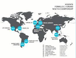 formula E schedule map 2015 FORMULA E