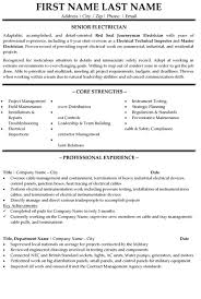Senior Electrician Resume Sample Template