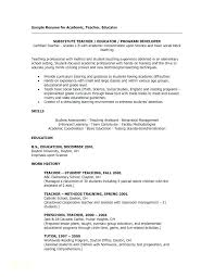 Education For Resume Examples Sample Resumes Free And Easy Templates With Teacher