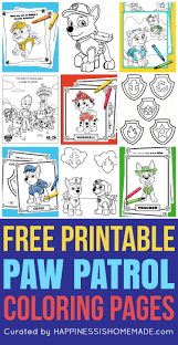 Youll Go Crazy For These Printable PAW Patrol Coloring Sheets Featuring Ryder Chase Marshall Rocky Skye Rubble Zuma Everest And More