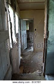 Interior Of Abandoned Farmhouse Saskatchewan Canada An Old And Rundown House