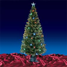Artificial Christmas Trees Uk 6ft by Green Fibre Optic Artificial Christmas Tree Multi Led Stars 3ft