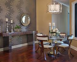 Contemporary Images Of Dining Room Design Ideas Extraordinary Small Decoration Using Round Glass