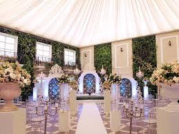wedding staircase ornaments reception lobby floral decor loversiq