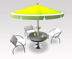 Modern Outdoor Cafe Furniture Set